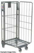 1 x Roller Cage With Heavy Duty Castors - Demountable With Three Sides - Ideal For Storing and Movin