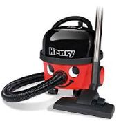 1 x Henry Hoover With Accessories - Classic Black & Red Design - Good Used Condition - Product Code: