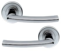5 x Pairs of Serozzetta Dos Internal Door Handle Levers in Satin Chrome- Brand New Stock -