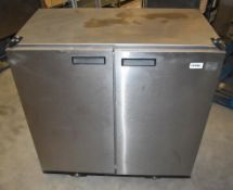 1 x Williams BC2 SS Solid Top Two Door Refrigerator - 230v - Stainless Steel Finish - H89 x W90 x D5
