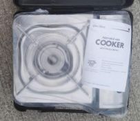 1 x Lucky Flame Stainless Steel Portable Gas Cooker (LF-90S) - New / Unused Stock, Taken From An Asi
