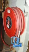 1 x Thomas Glover Fire Hose Reel With Spray Handle - Ref EP112 -CL451 - Location: Scunthorpe, DN15
