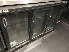 1 xGamko Backbar Triple Sliding Door Bottle Cooler (Model MG1/315SD) - CL554 - Ref IM197 -