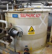 1 x Polypropylene Industrial Acid Dilution Tank - H142 x W200 cms - Ref EP114 - CL451 - Location: