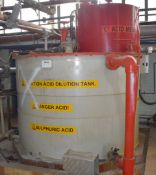 1 x Ripco Polypropylene Industrial Plastic Storage Tank - Previously used as an Acid Dilution Tank -