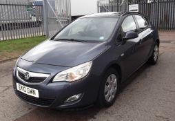 2010 Vauxhall Astra 1.6 Exclusive 5 Door Hatchback- CL505 - NO VAT ON THE HAMMER - Location: Corby,