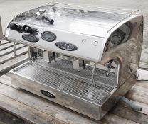1 x Francino Romano 2-Group Commercial Espresso Coffee Machine In Chrome