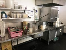 1 x Winterhalter PT-M Passthrough Dishwasher With Zenith Cleaning System, Inlet Table, Sink Unit