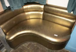 1 x Gold Corner Seating Booth - Size: W120 x D90 cms - CL554 - Ref IM243 - Location: London E1