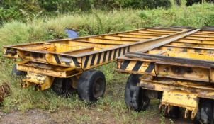 1 x W.H Davis and Sons Industrial 32ft Trailer With Rubber Tyre Wheels - NO VAT ON THE HAMMER!