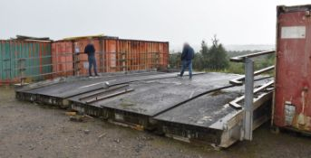 1 x Wide Vehicle Bridge With Side Barrier Railings - NO VAT ON THE HAMMER!