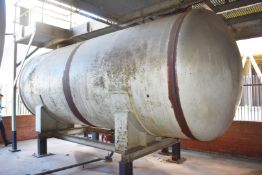 1 x Horizontal Steel Storage Tank With Inlet and Outlet and Milltronics Multiranger Plus Level