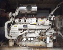 1 x Puma 1000kw Generator With Shipping Container Enclosure & Doorman Engine - NO VAT ON THE HAMMER!