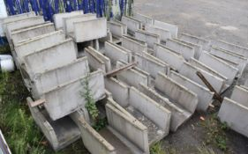 20 x Precast Stone Cable / Pipe Protection Trenches - Size 100x61x88 cms - NO VAT ON THE HAMMER!