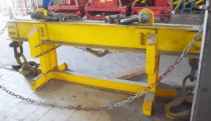 1 x Heavy Duty Crane Lifting Beam - SWL 30 Ton - Length 290 cms - Includes Stand