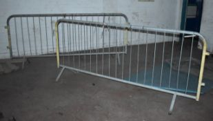 3 x Crowd Control Barriers - Approx Length 210 cms Each - Ref EP - CL451 - Location: Scunthorpe,