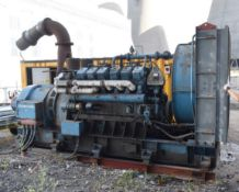 1 x Paxman / Brush Emergency Diesel Generator With Only 268 Hours Use - Year 1967