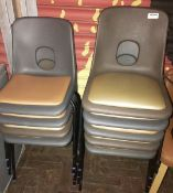 9 x Stackable Chairs With Padded Seats - CL554 - Ref IM244 - Location: Altrincham WA14