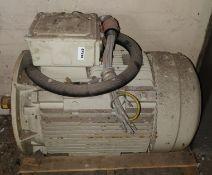 1 x Teco 3 Phase Inductor Motor - Type ALCA-0225MC-10002-IZ - Ref EP144 -CL451 - Location: