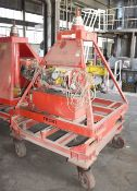 1 x Mobile Hydraulic Lifting Ram With Heavy Duty Trolley and Hand Control Unit - SWL 1 Ton