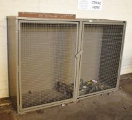 1 x Security Cabinet With Perforated Caged Doors - H140 x W200 x D61 cms  - Ref EP144 - CL451 -