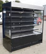 1 x ISA ITALY Large Refridgerated Multideck Display Unit - Dimensions: D89 X w194 X H210cm -