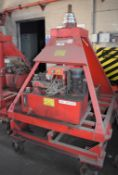 1 x Mobile Hydraulic Lifting Ram With Heavy Duty Trolley and Hand Control Unit -SWL 1 Ton