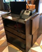 1 x Service Counter With Drawers and Stainless Steel Top - CL554 - RefIM193 - Location: London E1
