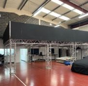 1 x 8m x 10m Truss Mezzanine with Staircase, Solid Floor And Ballustrade-CL548 - Location: Near