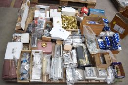 1 x Assorted Ironmongery Pallet Lot - Features Garage Door Locks, Tower Bolts, Door Locks,