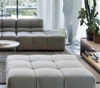 1 x B&B ITALIA 'Tufty Time' Designer Genuine Leather Ottoman In White - Designed By Patricia