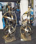 Pair of Table Lamps With Antique Brass Finish - CL546 - Location: Hale, Cheshire - NO VAT ON THE