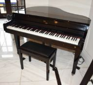 1 x Gem GRP300 Digital Baby Grand Piano With Footstool - Size H95 x W138 x D115 cms - CL546 -