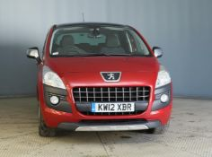 2012 Peugeot 3008 2.0 Hdi Allure 5 Door MPV - CL505 - NO VAT ON THE HAMMER - Location: Corby, Northa