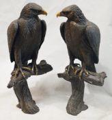 A Pair Of Stefano Ricci Ornamental 1-Metre Tall Eagle Statues - Unique And Beautiful Designer