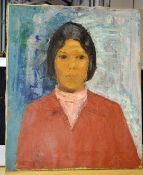 1 x Original Painting Of A Lady On Canvas - Dimensions: H60.5 x W50 x D2cm - Ex-Display - Ref: WH1/