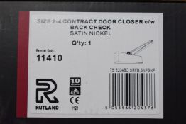1 x Rutland Soft Door Closer in Satin Nickle Finish - Size 2/4 - Brand New Stock - Product Code TS.