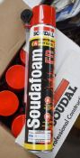 12 x Soudafoam Fire Rated Expanding Foam Dispensers - 4 Hour Fire Rating - Brand New Stock - RRP £