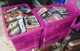 Assorted Job Lot of DVD Films Supplied in Three Storage Tubs - Features The Only Fools and Horses