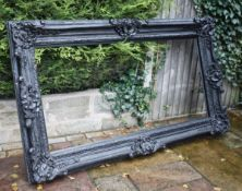 1 x Large Ornate Picture / Mirror Frame in Black - Size 224 x 135 cms - CL546 - Location: Hale,