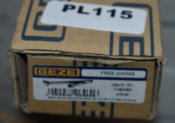 1 x Geze Free Swing Arm Door Closer in Silver - Brand New Stock - RRP £46 - Product Code 106460 -