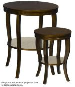 1 x JUSTIN VAN BREDA 'Monroe' Designer Occasional Table In Stained Oak Finish