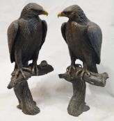 A Pair Of Stefano Ricci Ornamental 1-Metre Tall Eagle Statues - Unique And Beautiful Designer