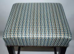 1 x Contemporary Bar Stool Upholstered In A Chic Designer Fabric - Recently Removed From A Famous De