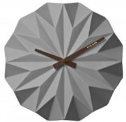 1 x KarlssonOrigami Wall Clock - Ceramic Wall Clock in Grey With 27 cms Diameter - Brand New and