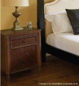 A Pair Of JUSTIN VAN BREDA 'Amelia' Bedside Cabinets In Dark Grey Oak - Total Original Price £2,720