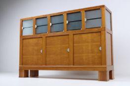 1 x Giorgetti Designer Abacus Tableware Drinks Sideboard - Solid Cherry Wood