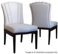 1 x JUSTIN VAN BREDA 'Charlotte' Fabric Upholstered Chair With Dark Grey Oak Frame - Original Price
