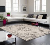 1 x Asiatic London 'Revive' Medallion Rug In Grey (RE02) - Dimensions: 200x290cm - Power Loomed In