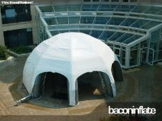Large Set of Inflatable Event Structures Including Silenced Fan Unit and Stillages For Ballast